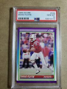 1990 Score Doug Flutie PSA 10 #535 Gem Mint Pop 6 New England Patriots