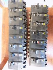 (15) Square D Qob260 2 Pole 60 Amp Bolt-On Circuit Breaker Yellow Face.  Unused