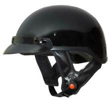 Fulmer Powersports 302 Revel Visor Motorcycle Half Helmet - Gloss Black