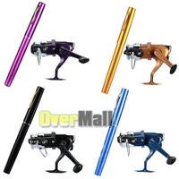 Outdoor Mini Portable Pocket Fish Pen Shape Aluminum Alloy Fishing Rod Pole+Reel