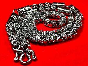Big Size Silver Necklace 5 Hook Pendant Thai Amulet Buddha Protection Handmade