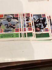 1986 McDonalds Dallas Cowboys 24 Cards Team Set Complete Green Version Mint