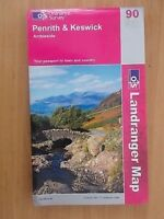 2002 ORDNANCE SURVEY LANDRANGER SHEET MAP No 90 PENRITH & KESWICK AMBLESIDE