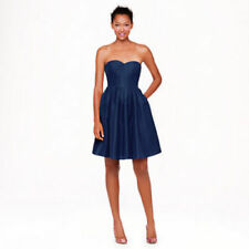 J. crew Strapless Marlie Dress Size 4 P Sweetheart Pleated