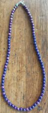 Color Changing Mood Bead Necklace 181/4 inch blue green purple