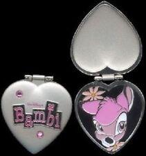 Disney Bambi Pretty in Pink Jeweled Hinged Heart Locket Pin