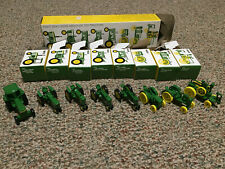 John Deere Lot of 8 Diecast Tractors, 44 Years Old Collection, Original Boxes