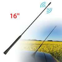 "16"" Replacement Car Radio Stereo Aerial Bee Sting Mast Antenna Black For Cars SK"