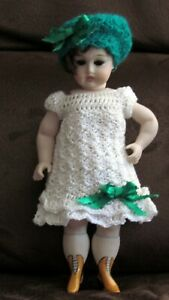 All Bisque Doll with Yellow Boots 8 Inch Repro