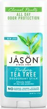 JASON PURIFYING TEA TREE DEODORANT STICK 71g- NO ALUMINIUM, PARABENS, CRUELTY