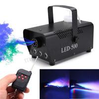 500W  RGB LED Wireless Fog Machine DJ Disco Club Stage Fogger Remot EU W F R