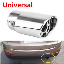 Universal Stainless Steel Chrome Car Round Exhaust Pipe Tail Throat Muffler Tip