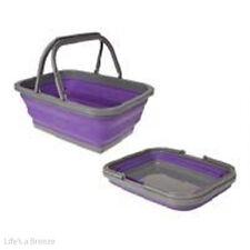 Pop Up Basket. Purple for Camping Caravans & Motorhomes