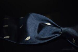 Giacomo de Senese Milano Navy Owl Peregrine Emblematic Society Club Silk Tie NR
