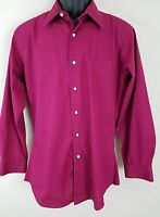 Giorgio Brutini Men's Business Casual Shirt Fitted Medium  Long Sleeve Cotton
