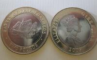 2005 GIBRALTAR £2 TWO POUND COIN BATTLE OF TRAFALGAR  BUNC FROM MINT BAG