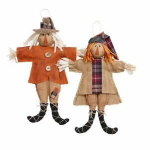 Mud Pie H0 Fall Thanksgiving Burlap 12'' H Small Scarecrow Doll 42600636 Choose