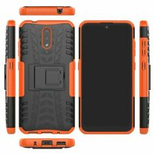 For Nokia 2.3 (HMD 2.3), 3D 2in1 Dual-Layer Shockproof Rugged Armor Case + Glass