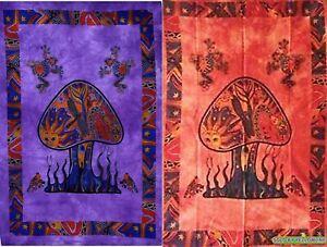 2 piece Mushroom Tapestry Bohomen Indian Wall Hanging Wholesale (77cmX102cm)PR-2