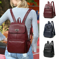 Women Rucksack Backpack Handbag Ladies Girls Pu Leather Satchel Shoulder Bag
