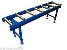 Rollenbahn Rollbahn Transportrollbahn Förderband Rollentisch mit 7 Rollen
