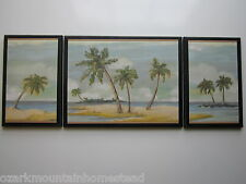 Beach Bath Wall Decor Plaques Spa Style pictures palms on ocean islands