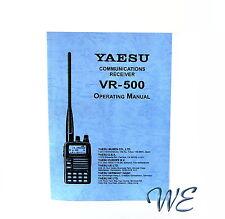 Nuevo Yaesu vr-500 manual de operación del Libro En Inglés