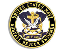 """4"""" NAVY SURFACE RESCUE SWIMMER SO OTHERS MAY LIVE HELMET BUMPER STICKER DECAL"""