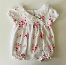 Janie and Jack Baby Girl 3 6 Months Floral Bubble Romper
