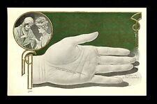 Fortune Telling Palm Reading postcard Lounsbury 1907 #2039-2 Advertising back