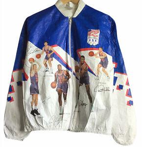 Vintage 1992 Kelloggs Tyvek USA Olympics Dream Team Men's Zip Jacket Size Small