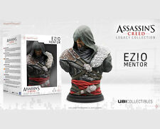 ASSASSINS CREED LEGACY   EZIO  MENTOR   FIGURINE  BUST + LITHOGRAPH PRINT