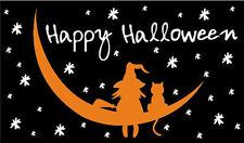 5'x3' Witch and Cat Flag Halloween Party Flags