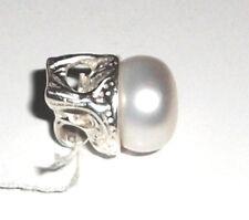 Einzelstück Perlen Anhänger 11 mm Perle 925 Sterling Silber Pearl Pendant Neu