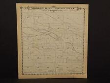 California Tulare County Map Tipton Township 21 Dbl Sd 1892 !W12#58