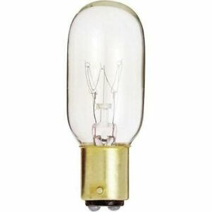 Satco S4721 - 25 watt T8 Incandescent Bulb, Clear, DC Bay Base