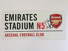 Laurent Koscielny Hand Signed Arsenal Street Sign Emirates Stadium.