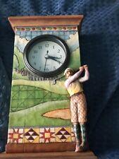 "Jim Shore Golf Golfer Clock 9"" Tall"