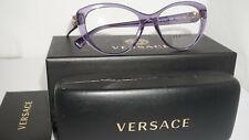 VERSACE RX Eyeglasses New Purple Transparent VE3246B 5160 52 17 140