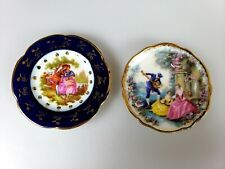 Vintage Limoges Castel France Miniature Plate Courting Couple