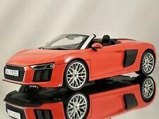 iScale Audi R8 Spyder V10 Dynamite Red Diecast Model Car 1:18