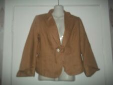 womans beige tie close tailored jacket from per una size 10 in v good condition