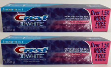 2x Crest 3D White Radiant Mint 2.5 oz (70g) Fluoride Anticavity Toothpaste New