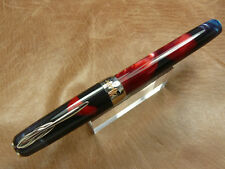 PINEIDER LAGRANDE BELLEZZA FOUNTAIN PEN SUNSET RED 18K FINE NUMBERED LTD EDITION