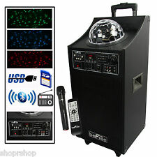 beFree Sound Projection Party Light Dome PA Speaker Subwoofer Bluetooth USB