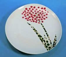 """WEST ELM Paper Craft AGAPANTHUS Red White Green  PLATE  8 1/2""""   MINT"""