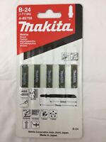 MAKITA B-24 = t118g HSS 5 pack metal wood jigsaw blades fine cut STAINLESS