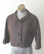 "1950's Vintage Brown Jacket ""Edmora"" Silk and Worsted for Morlaine"