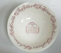ROYAL STAFFORDSHIRE CERAMICS BURSLEM ENGLAND ANTIQUE WEDDING ANNIVERSARY BOWL