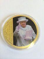 1952-2012 Celebrating Diamond Jubilee Queen Elizabeth II Gold Plated Coin